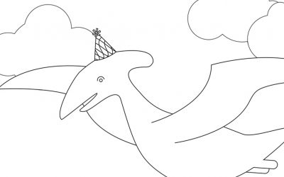 Free Dinosaur Coloring Pages!